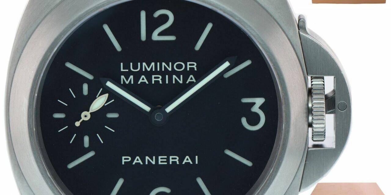 PAPERS Panerai PAM 177 44mm Luminor Marina Titanium Manual Black Watch PAM00177