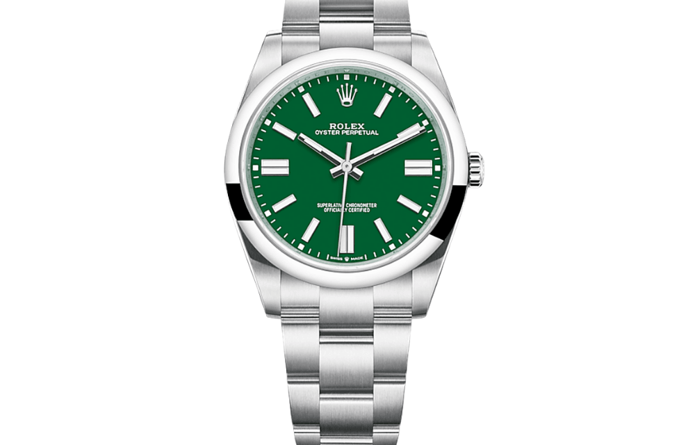 Rolex Oyster Perpetual 36 MM Green Dial 126000