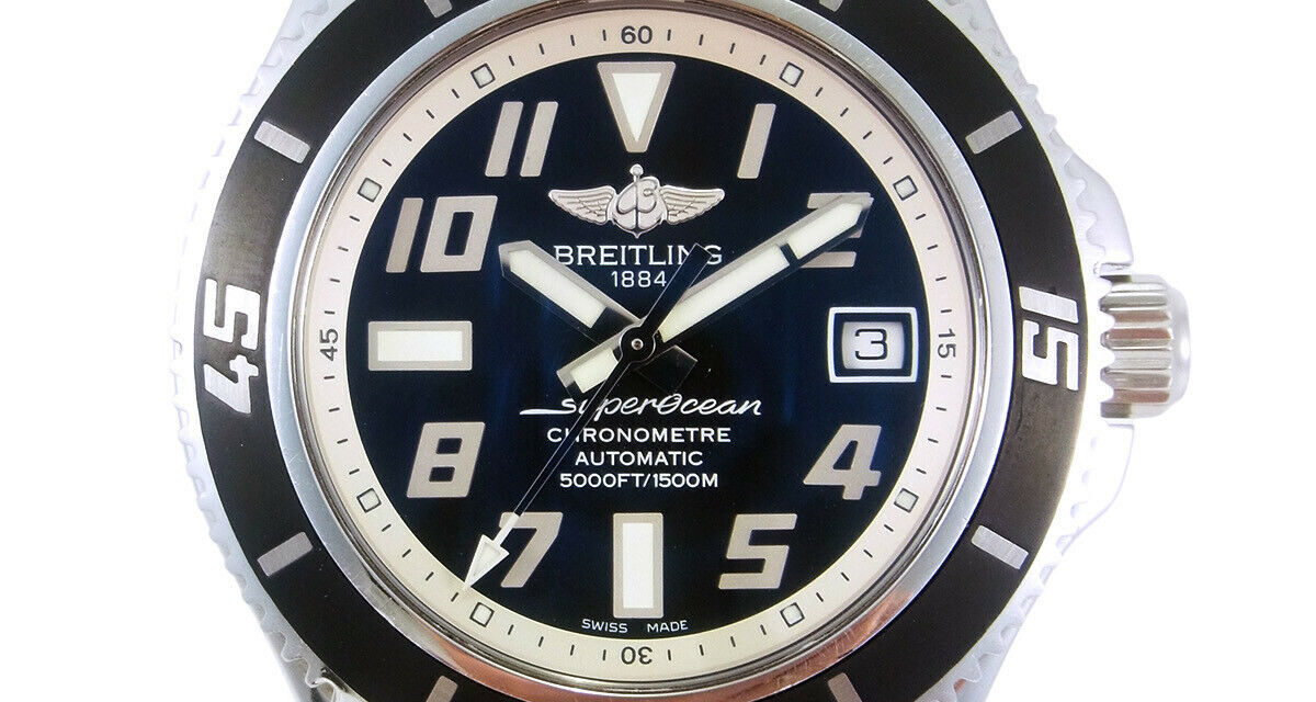 BREITLING Superocean42 Chronometer 1500M Automatic Date Watch A17364 w/Box
