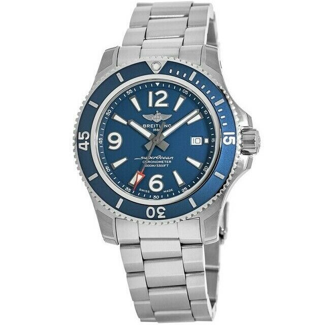 New Breitling Superocean 44 Blue Dial Stainless Steel Men's Watch A17367D81C1A1