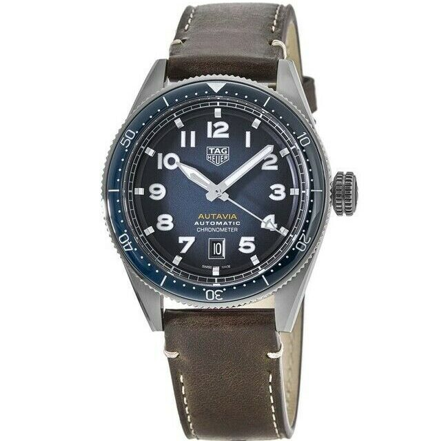 New Tag Heuer Autavia Calibre 5 Chronometer Blue Men's Watch WBE5116.FC8266