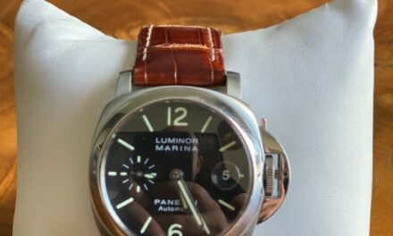 Panerai PAM00048 Louis Vuitton Date Automatic Luminor Marina Black dial