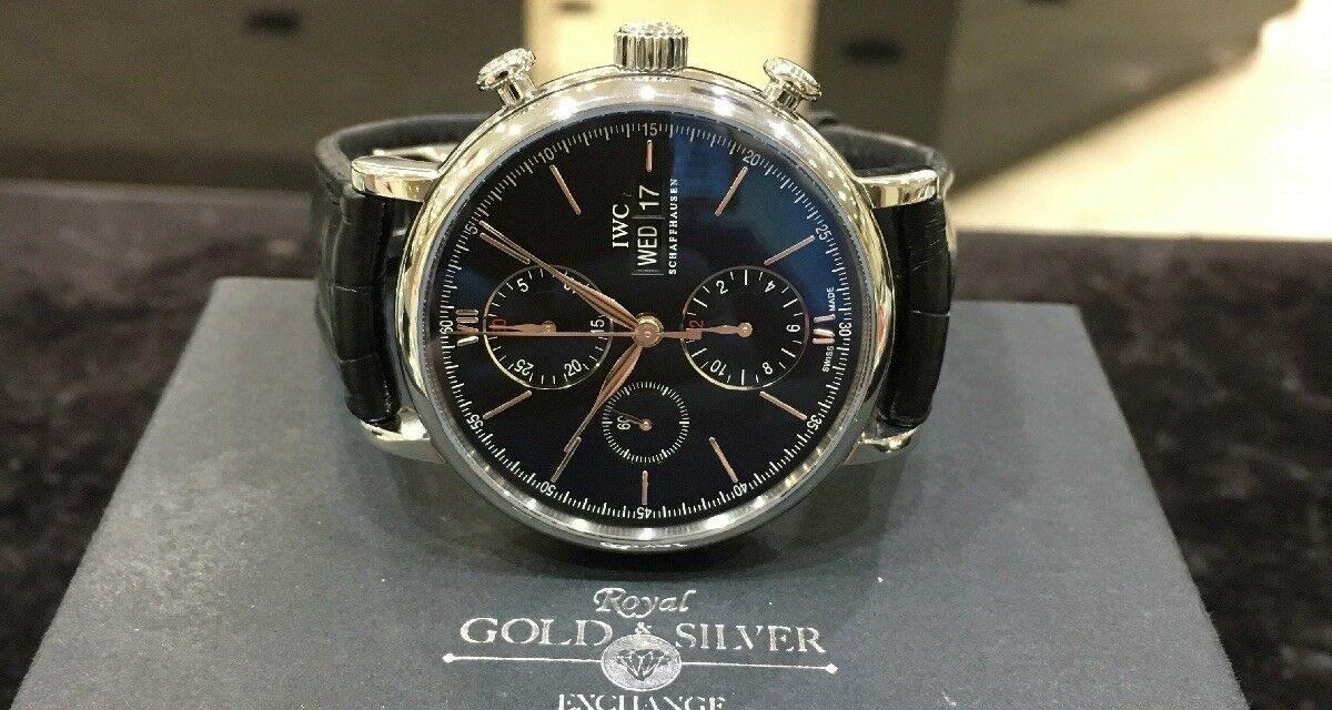 IWC Portofino Chronograph Automatic Watch EXCELLENT CONDITION NEW BAND