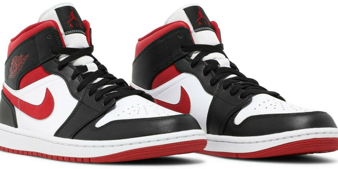 Men Size 7.5-13 Nike Air Jordan 1 Mid Metallic Gym Red/Black/White 554724-122