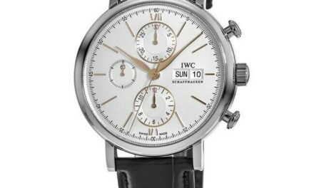New IWC Portofino Chronograph Silver Dial with Gold Men's Watch IW391031