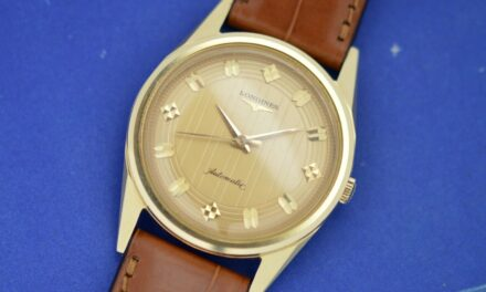 Vintage Longines Automatic 14K Yellow Gold / Patterned Dial
