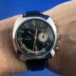 Longines Nonius rare 1/10th Second Fly-Back Chronograph 1969 excellent 41mm case