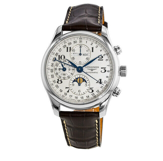 New Longines Master Collection Moonphase 42mm Silver Men's Watch L2.773.4.78.3