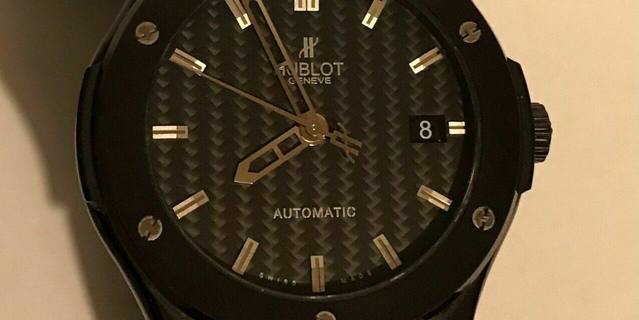 Authentic Hublot Big Bang Black Dial 38mm Men's Watch/Box