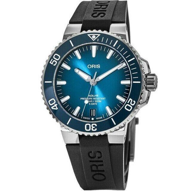 New Oris Aquis Date Calibre 400 Blue Men's Watch 01 400 7763 4135-07 4 24 74EB