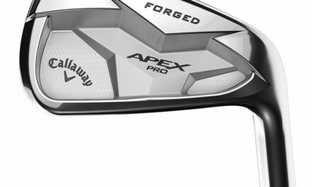 LEFT HANDED CALLAWAY 2019 APEX PRO IRON SETS 3-PW STEEL S400 (STIFF) 2 UP (WHITE