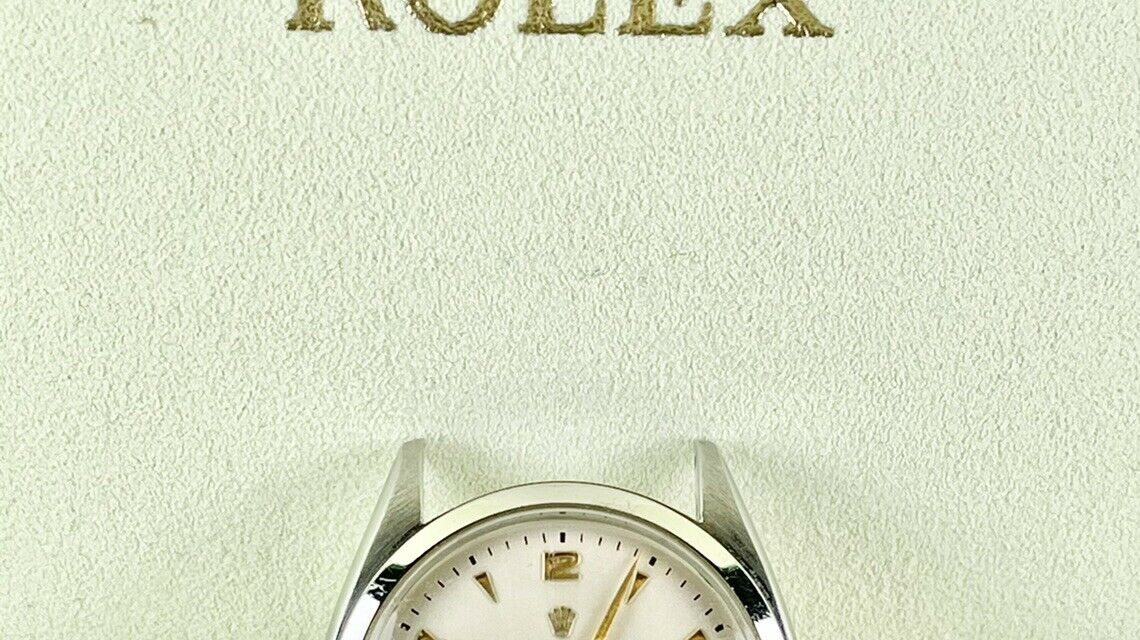 Rolex Unisex 34mm Men's Oyster Precision Reference 6022 Vintage Wristwatch