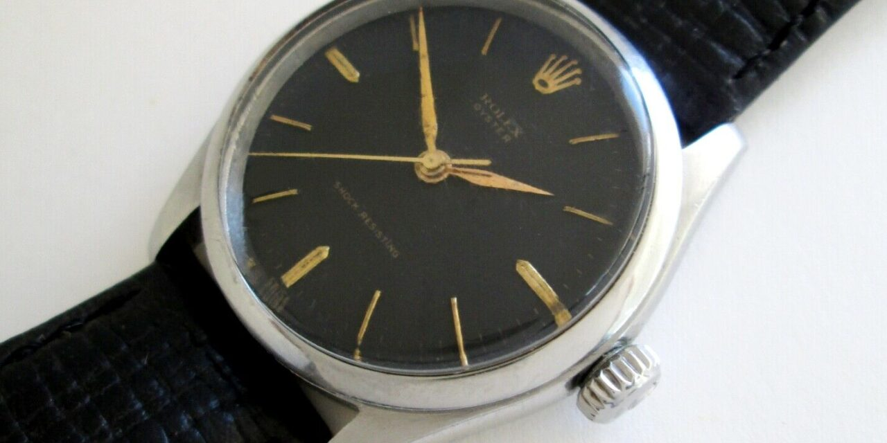 Rolex Oyster 6282 Vintage 50's Mechanical Hand Winding Men's Watch Rolex 710 Cal