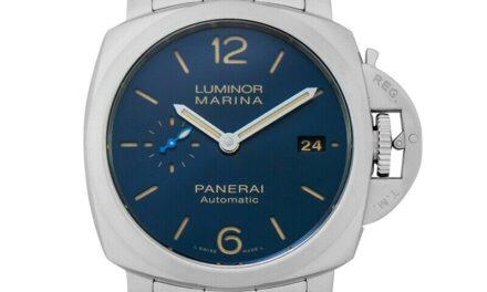 PANERAI  Luminor  PAM01028 Blue Dial Men's Watch Genuine FreeS&H