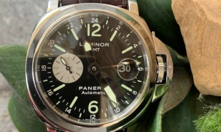Panerai 88 Luminor GMT Automatic Men's Black Dial Watch – PAM00088 With Box