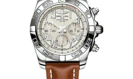 New Breitling Chronomat 44 Brown Leather Men's Watch AB011012/G676-437X