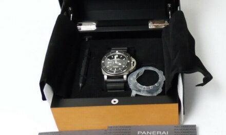 Panerai 389 Luminor Submersible 1950 Amagnetic 3 Days Titanium Watch w/ Box