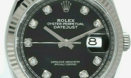 NEW Rolex Datejust Steel Black Diamond Dial Mens 36mm Watch '21 B/P 126234