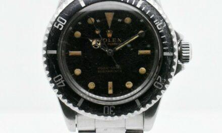 ROLEX SUB 5513 STAINLESS STEEL CASE BLACK DIAL TUEN BEZEL 40 MM