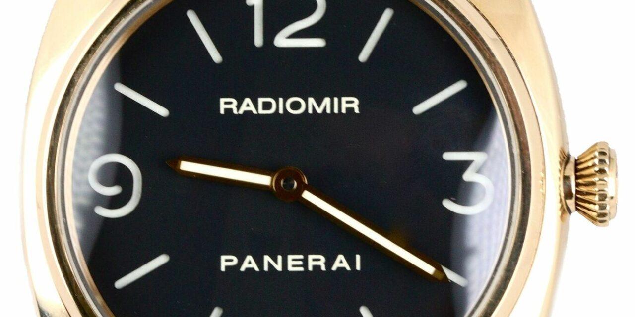 Panerai Radiomir Base 18K Rose Gold PAM 231 Black 45mm PAM00231 Manual Watch