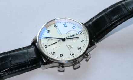 IWC Portuguese Chronograph Automatic White Dial Men's Watch IW371446