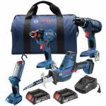 Bosch GXL18V-496B22-RT 18V  4-Tool Combo Kit (2 Ah) Certified Refurbished