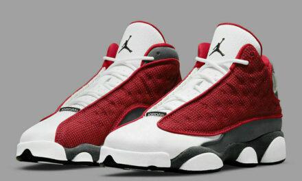 "Nike Air Jordan 13 Retro Shoes ""Red Flint"" Gray White DJ5982-600 Men's NEW"