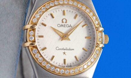 Ladies Omega Constellation 18K Gold SS Watch – 25.5MM – Diamond Bezel – 1277.30