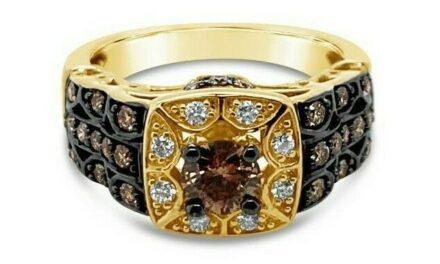 Le Vian Bridal® Ring – Chocolate Diamonds®, Vanilla Diamonds® – 14K Honey Gold™