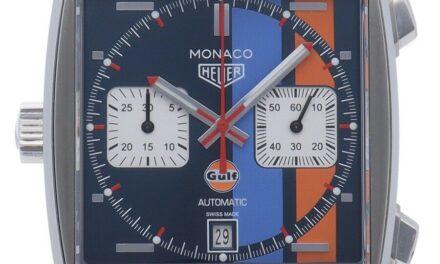 Tag Heuer Monaco Chronograph Caliber 11 Gulf CAW211R.FC6401 SS / leather