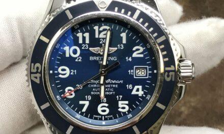 Breitling Superocean II 42 A17365 Blue Dial Automatic Men's Watch