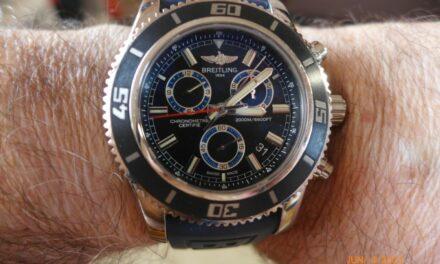 Breitling SuperOcean Chronograph M2000 A73310, Blue, B&P