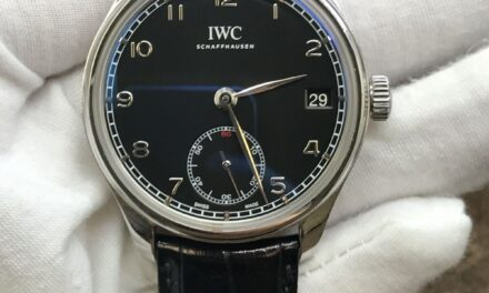 IWC Portuguese 8 days IW510202 Black Dial Hand-wound Men's Watch