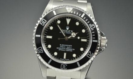Rare Rolex No Date Submariner 14060M 40MM Stainless Steel Random Engraved Rehaut