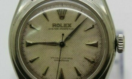 VINTAGE ROLEX MEN's STAINLESS 34mm OYSTER PERPETUAL BIG BUBBLEBACK 6084