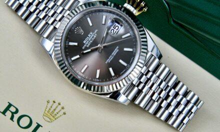 Rolex Datejust 41 mm Dark Rhodium Dial 126334 Fluted Bezel & Jubilee