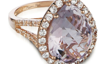 Roberto Ricci® Ring – Pink Amethyst, White Sapphire set in 14K Strawberry Gold®