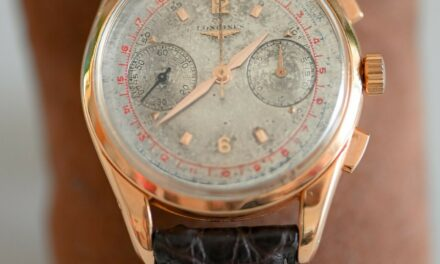 Longines 6595 Cal 30CH 18K Solid Rose Gold Flyback Chronograph 1957
