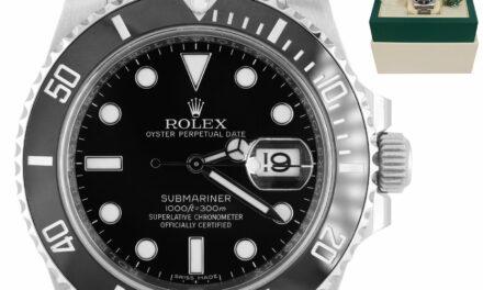 2016 Rolex Submariner Date 40mm Stainless Black Ceramic 116610 LN B+P Watch