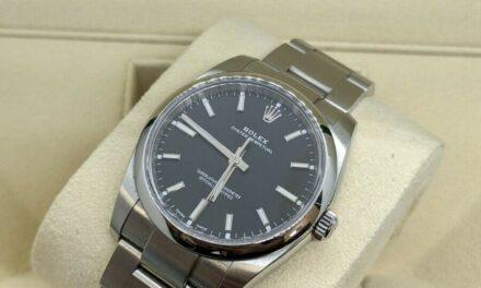 2019 Rolex Oyster Perpetual 114200 Stainless Steel Black Dial 34mm – Complete