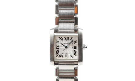 Cartier Tank Française Stainless Steel Watch Men's