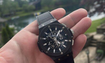 MINT Hublot Big Bang Aero Bang Automatic Black Ceramic 44mm Watch 311.CI.1170.GR