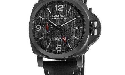 New Panerai Luminor Luna Rossa GMT Automatic Grey Dial Men's Watch PAM01036