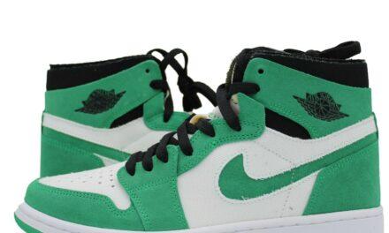Nike Air Jordan 1 High Zoom CMFT Stadium Green CT0978-300 White Black Mens NEW