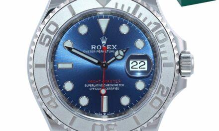 2020 NEW PAPERS Rolex Yacht-Master 126622 Steel Platinum Blue Watch Box