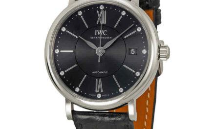 IWC Portofino Automatic Diamond Black Dial Unisex Watch IW458102