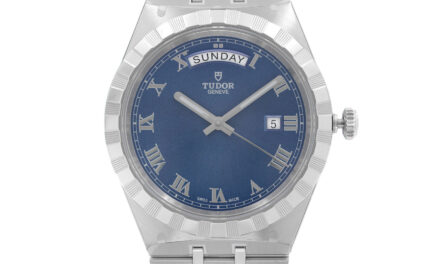 Tudor Royal 41mm Steel Day-Date Blue Dial Automatic Mens Watch M28600-0005