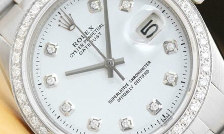 MENS ROLEX DATEJUST 18K WHITE GOLD DIAMOND & STEEL WHITE DIAL WATCH + ROLEX BAND