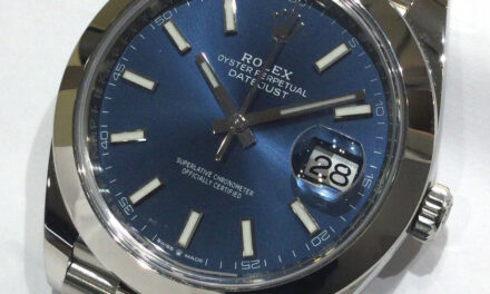 Rolex Datejust 41MM Blue Dial 126300 Box and Papers Mint