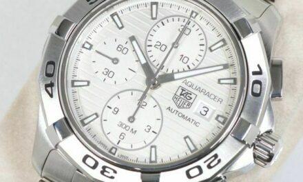 TAG HEUER watch aqua racer chrono CAP2111 men's Automatic-winding genuine